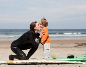 A photographer/ocean lover happened to take this photo of Gavin and I at La Jolla Shores a few years back. So glad she captured the moment. Board credit: Emily Bumps' Al Merrick Fish